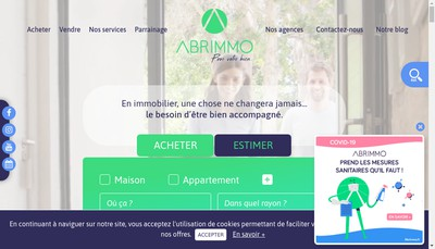 Site internet de Abrimmo