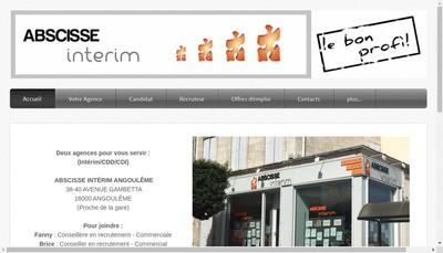 Site internet de Abscisse Interim
