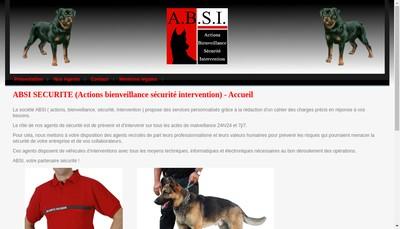 Site internet de Absi (Actions Bienveillance Securite Intervention)