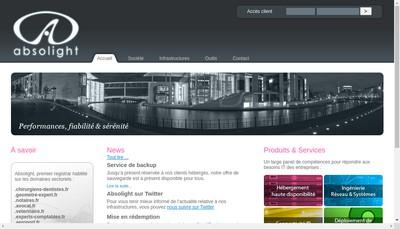 Site internet de Sohanet-Absolight Studio-Absolight