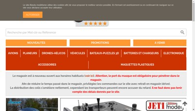 Site internet de Absolu Modelisme