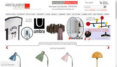 Site internet de Absolument Design