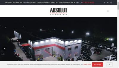 Site internet de Absolut Automobiles