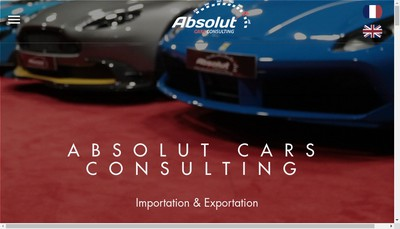 Site internet de Absolut Cars Consulting