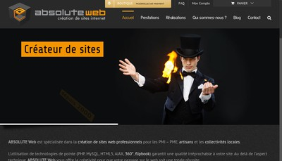 Site internet de Absolute Web