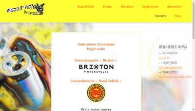 Site internet de Absolut Moto
