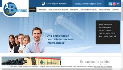 Site internet de Avenir Bennes et Services