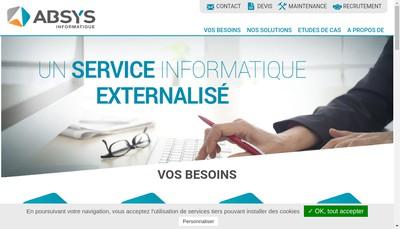 Site internet de Absys Informatique