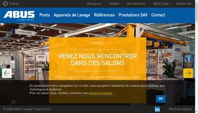 Site internet de Abus Levage France