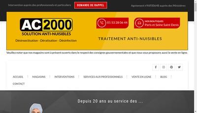 Site internet de Ac 2000