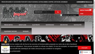 Site internet de Acab Import
