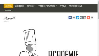 Site internet de Academie Culinaire Stephane Bulteau