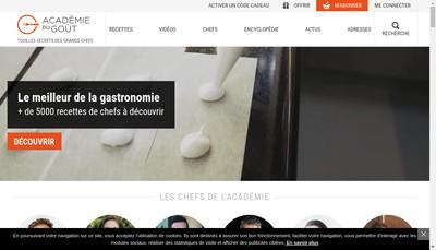 Site internet de Academie du Gout