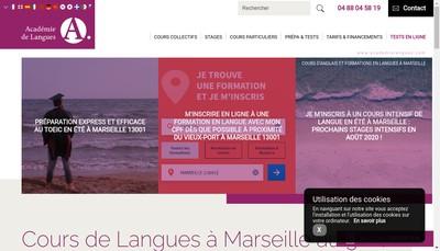 Site internet de Academie Internationale de Langues AIL