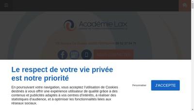 Site internet de Academie Lax Formation Professionnelle