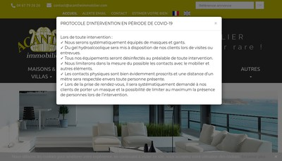 Site internet de Acanthe Immobilier