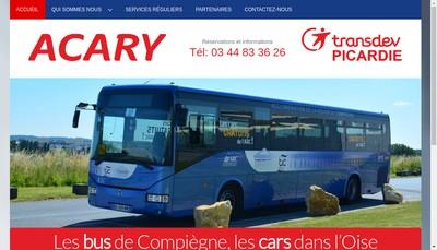 Site internet de Les Cars Acary