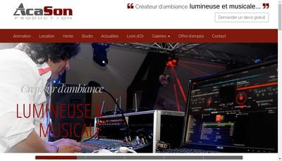 Site internet de Acason Production
