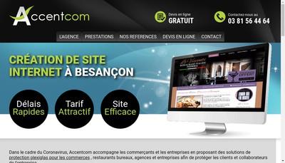 Site internet de Accentcom - Accentpub