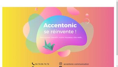 Site internet de Accentonic