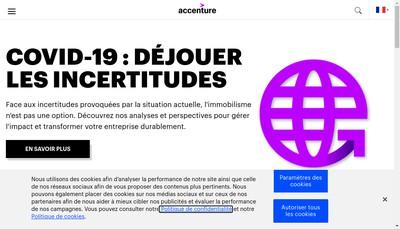 Site internet de Accenture