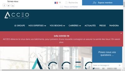 Site internet de Acceo Elevation