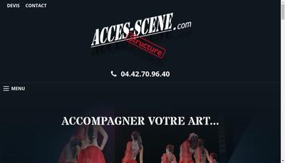 Site internet de Acces Scene