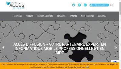 Site internet de Acces Diffusion