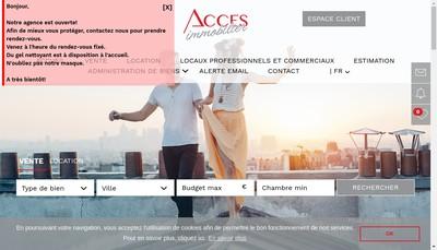 Site internet de Acces Immobilier