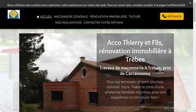 Site internet de SARL Acco Thierry et Fils