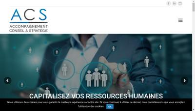 Site internet de Accompagnement Conseil et Strategie