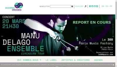 Site internet de Accords Croises
