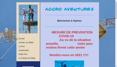 Site internet de Accro Aventures