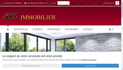 Site internet de ACD Immobilier