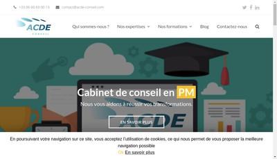 Site internet de Acde Conseil