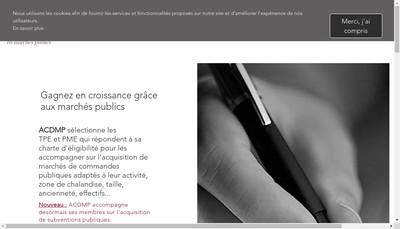 Site internet de Agence Conseil de Developpement en Marches Publics