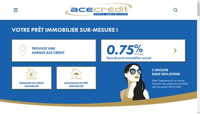 Site internet de Ace Credit