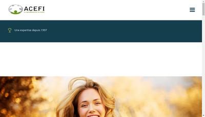 Site internet de Acefi Assurances