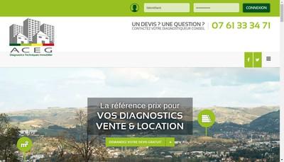 Site internet de Aceg Diagnostics Immobilier