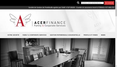Site internet de Acer Finance