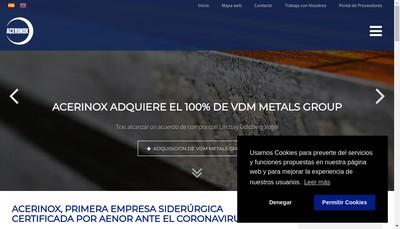 Site internet de Acerinox France