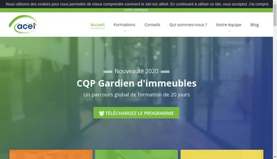 Site internet de Acet Formation