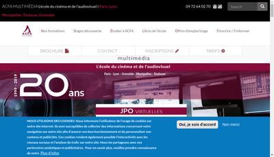 Site internet de Acfa - Multimedia
