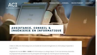 Site internet de Aci Informatique
