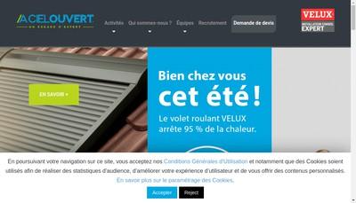 Site internet de A Ciel Ouvert