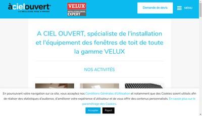 Site internet de A Ciel Ouvert Normandie