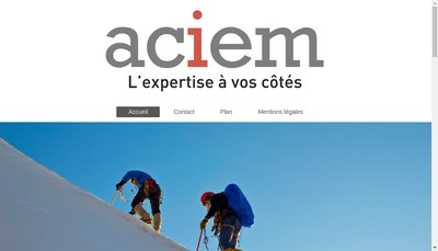 Site internet de Aciem Ile de France