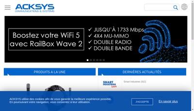 Site internet de Acksys Communication et Systeme