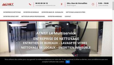 Site internet de Acnet le Multiservice