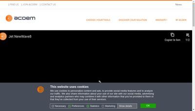 Site internet de Acoem
